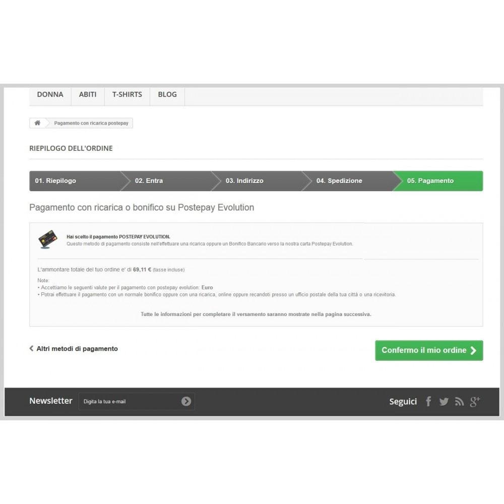 module - Paiement par Carte ou Wallet - Postepay Evolution - 1