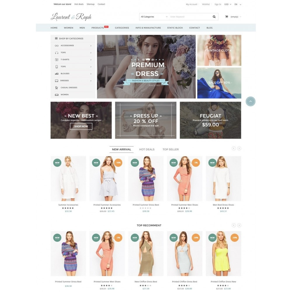 theme - Mode & Chaussures - L&R Fashion Store Responsive PrestaShop Theme - 2