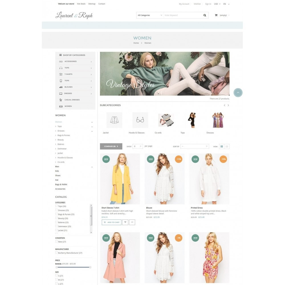 theme - Mode & Schoenen - L&R Fashion Store Responsive PrestaShop Theme - 4