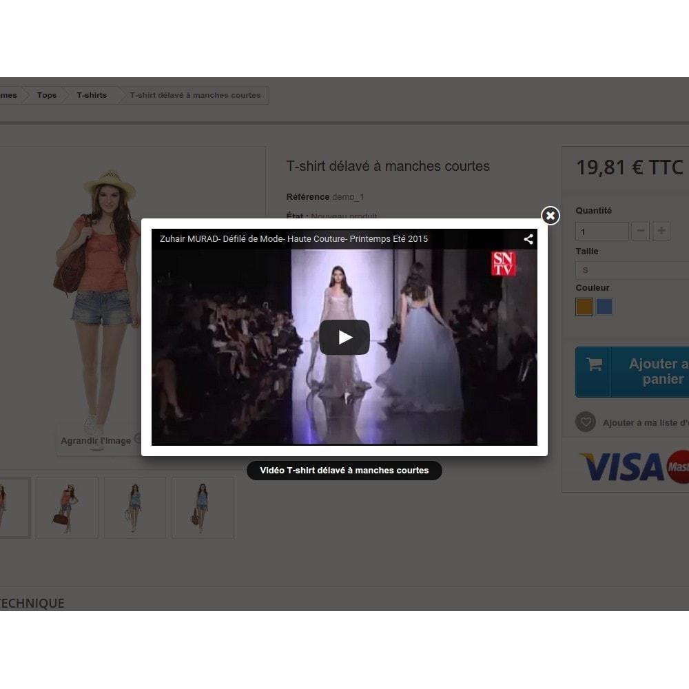 module - Vidéo & Musique - Bouton vidéo sur la fiche produit - 3