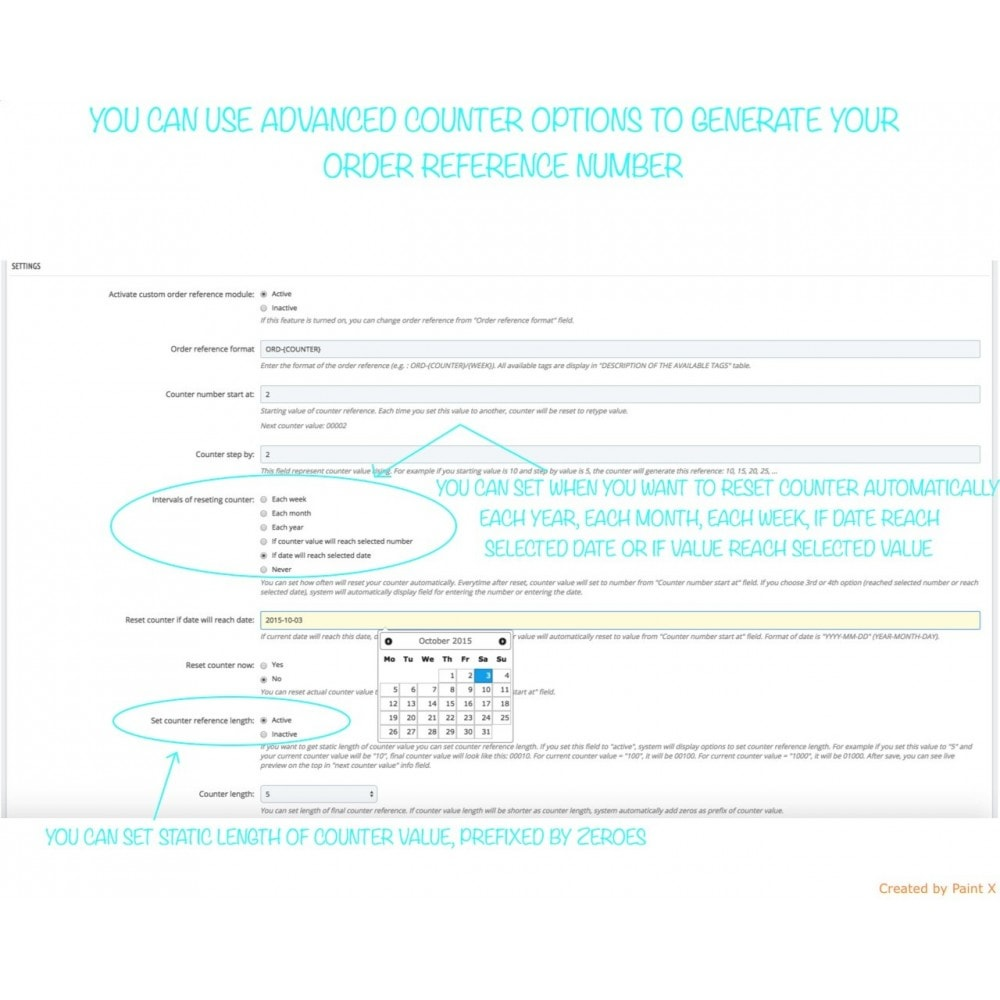module - Order Management - Advanced Custom Order Numbers, Edit Order Numbers - 5