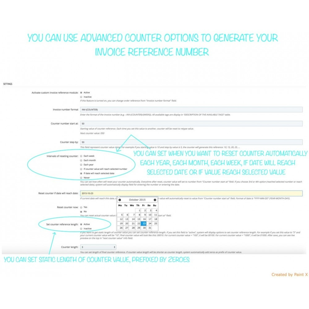 module - Boekhouding en fakturatie - Custom Invoice Reference Number,Edit and Remove Invoice - 6