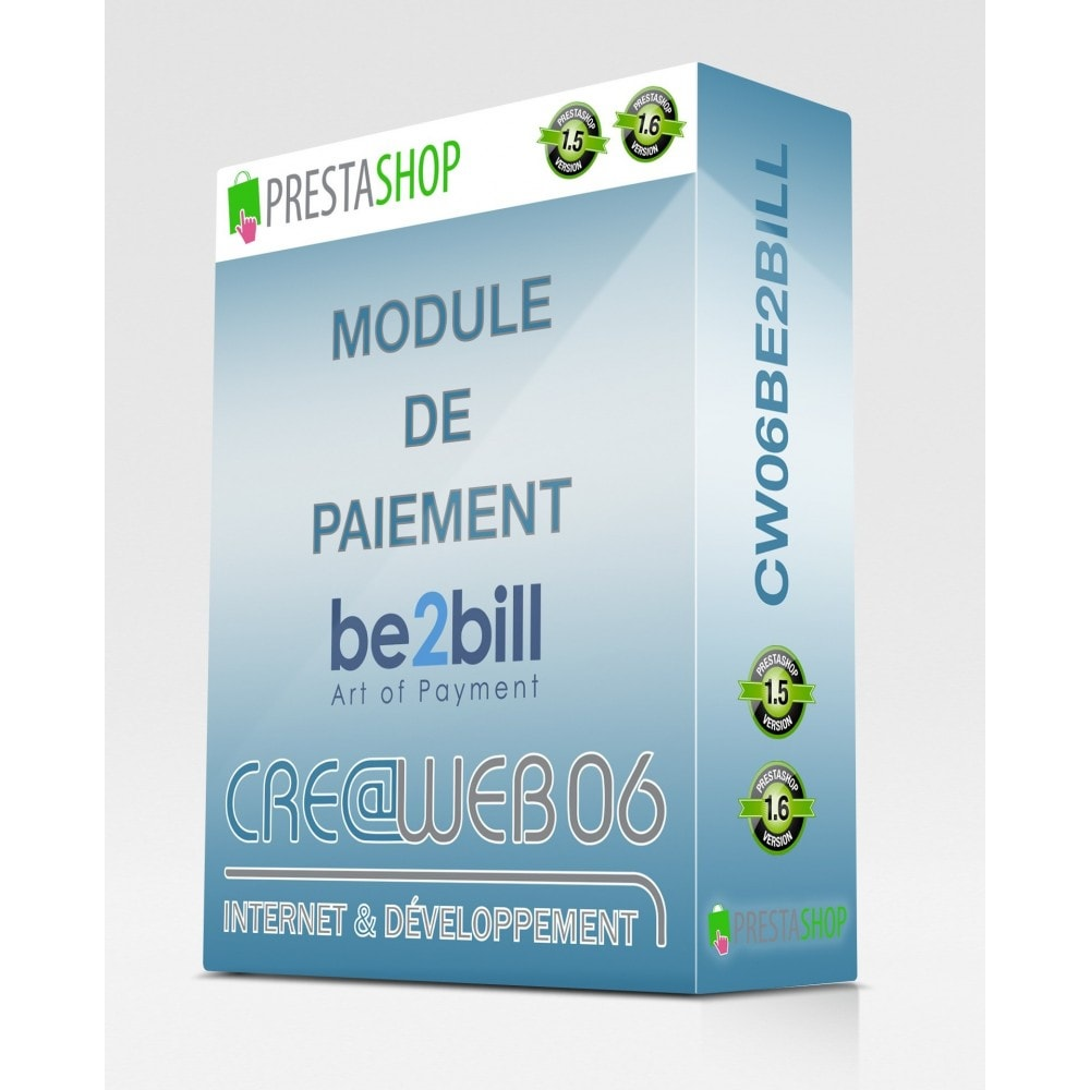 module - Paiement par Carte ou Wallet - Be2Bill paiement comptant et multiples 1x, 3x, ... - 1