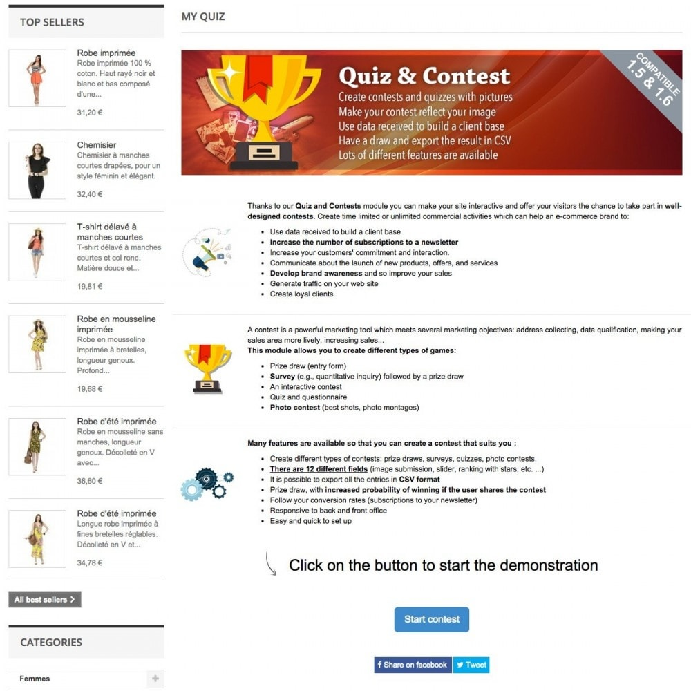 module - Wedstrijden - Quiz and contests - 2