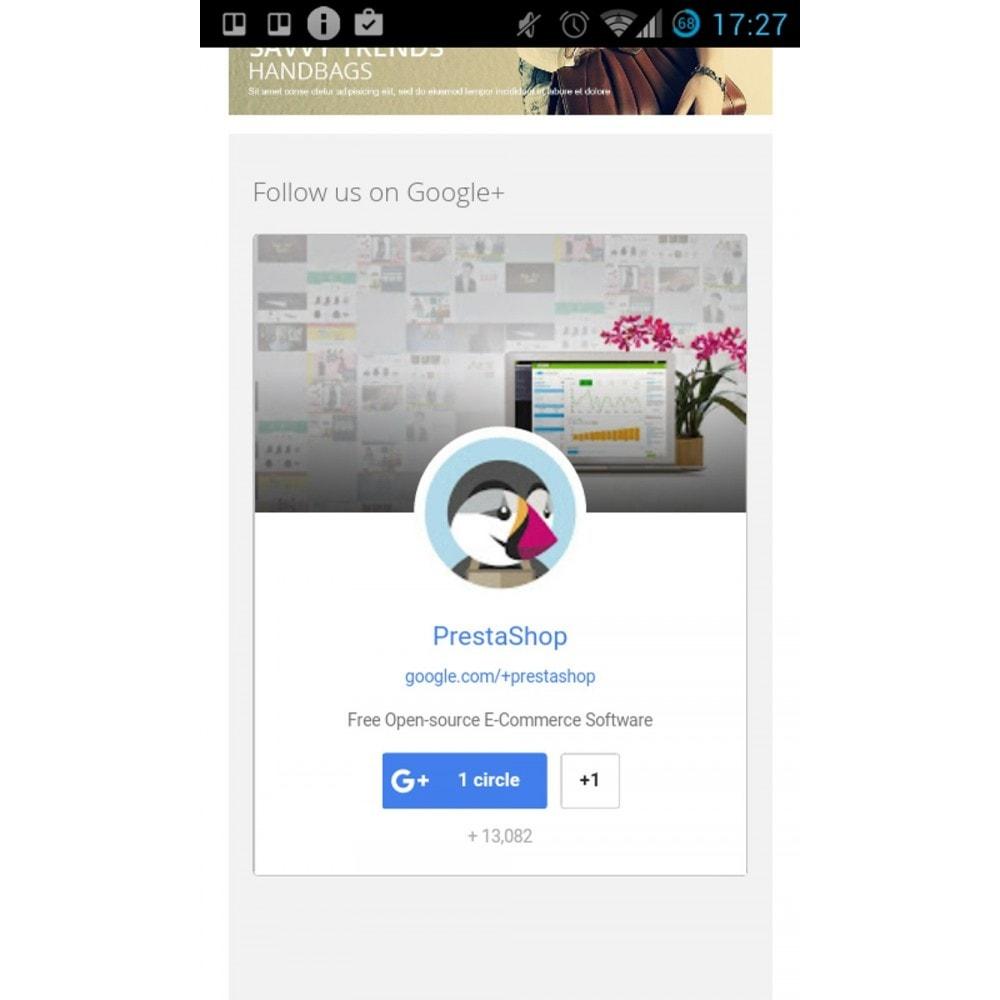 module - Compartilhamento & Comentários - Responsive Google Plus Badge - 2