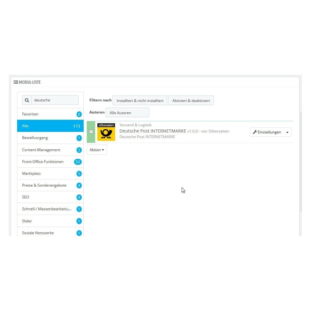 module - Transportistas - Deutsche Post PrestaShop Connector - 1