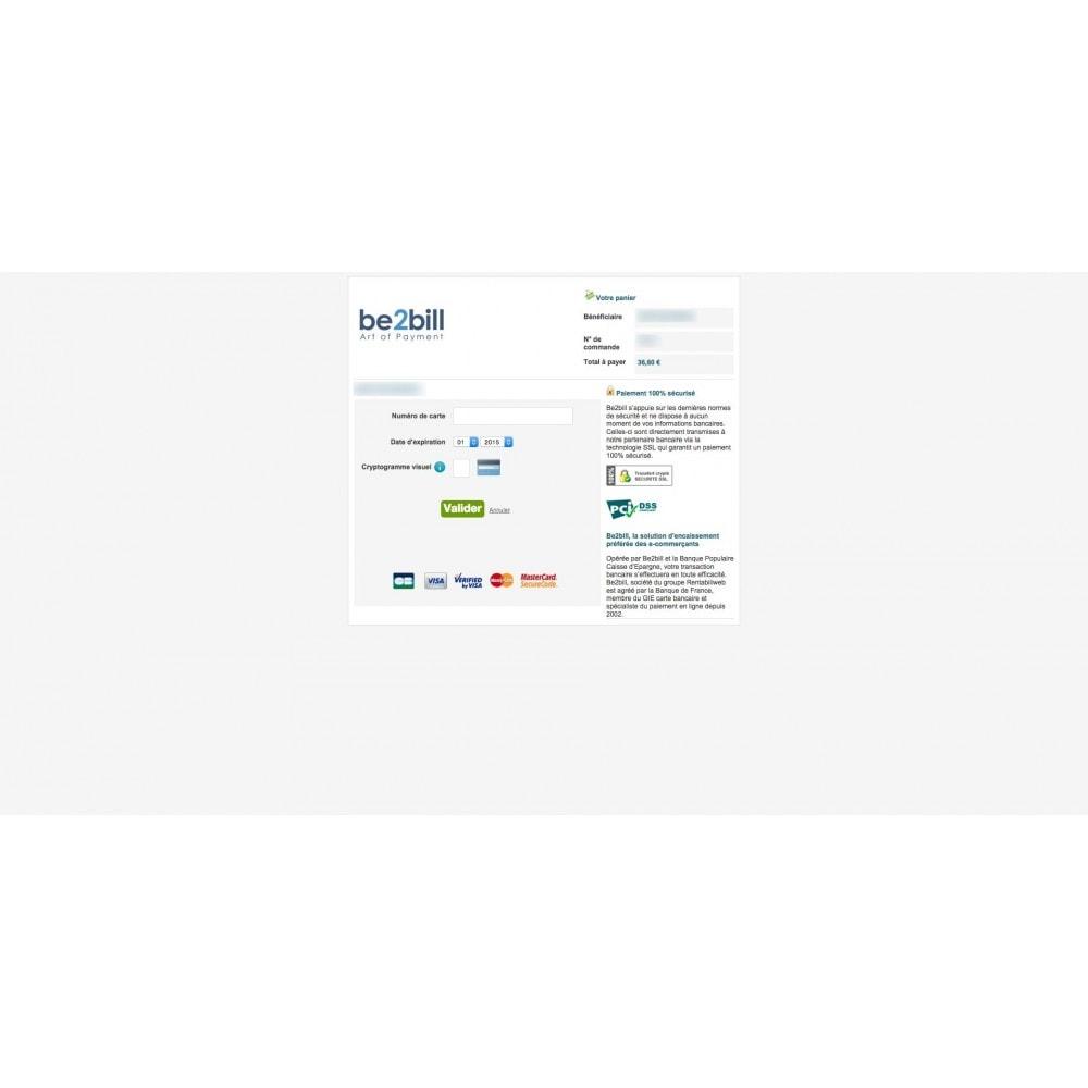 module - Paiement par Carte ou Wallet - Be2Bill paiement comptant et multiples 1x, 3x, ... - 3
