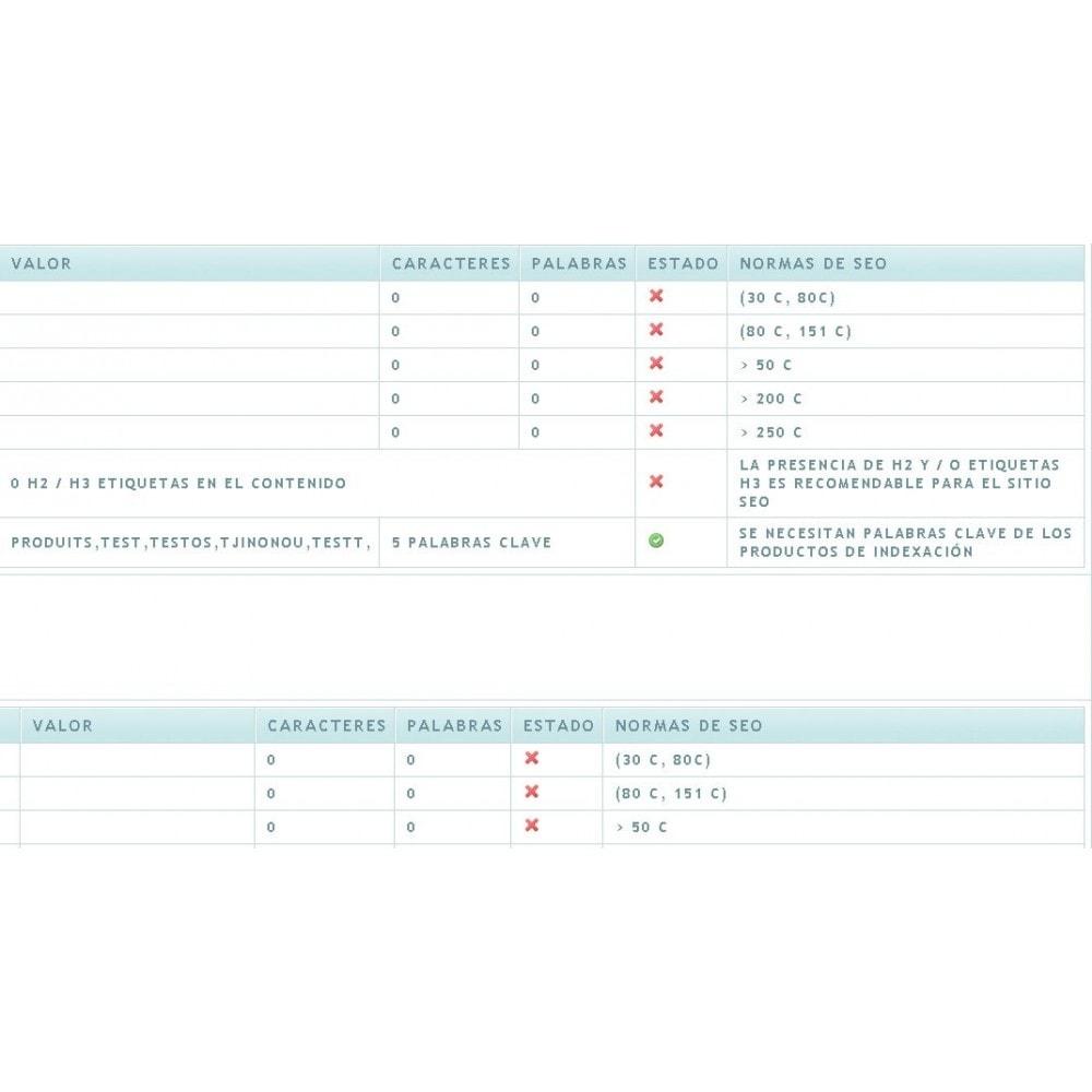 module - SEO (Posicionamiento en buscadores) - SEO ANALYSIS - 2