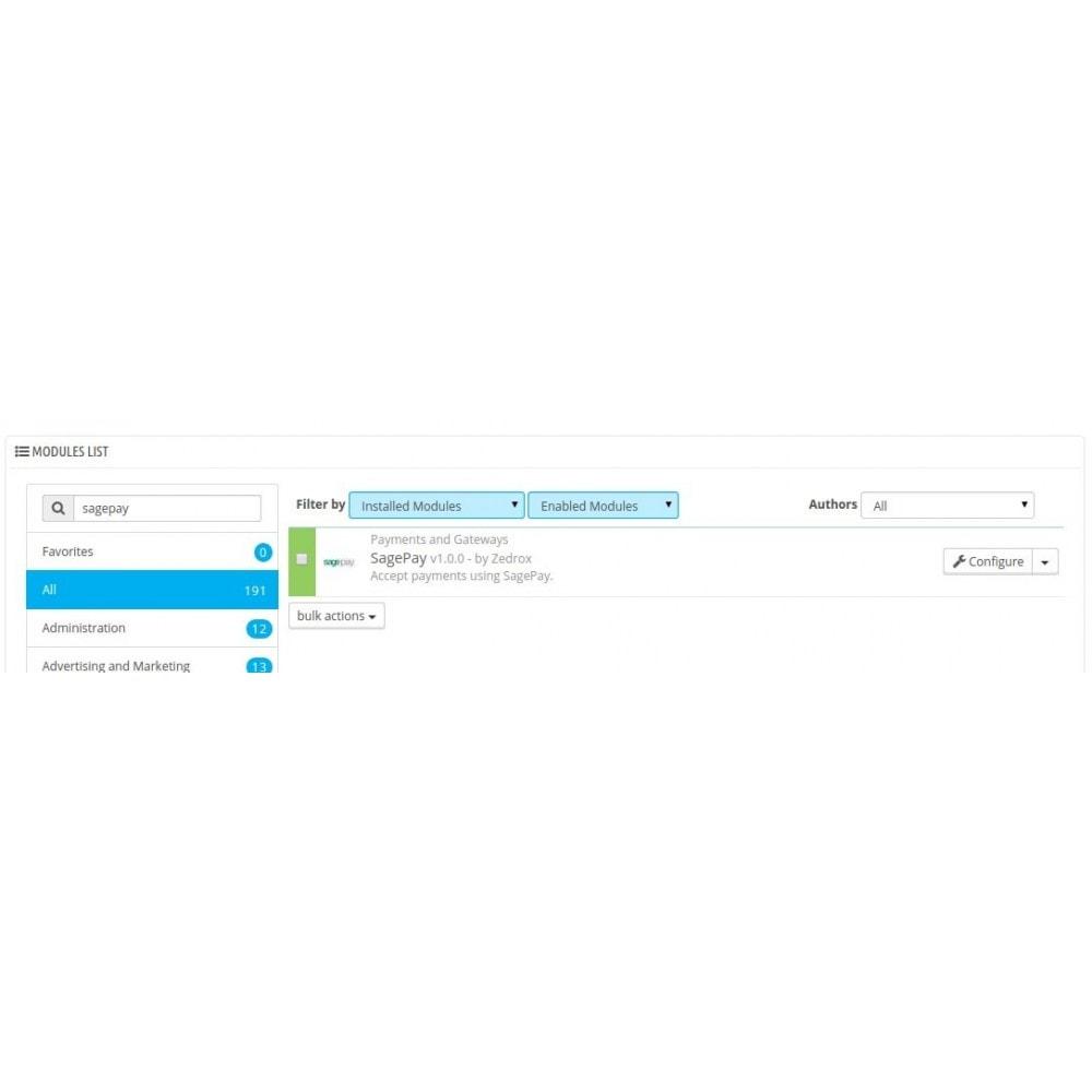 module - Оплата банковской картой или с помощью электронного кошелька - Sagepay Payments - 1