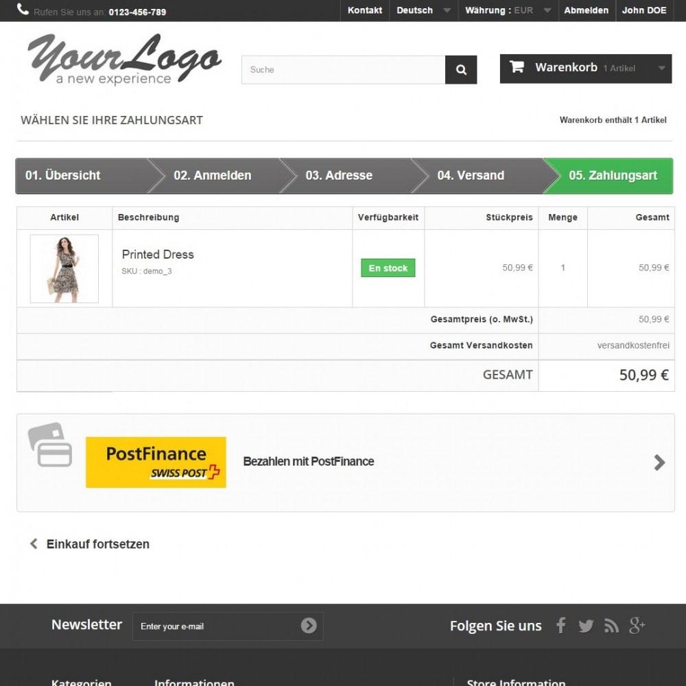 module - Zahlung per Kreditkarte oder Wallet - PostFinance - 2