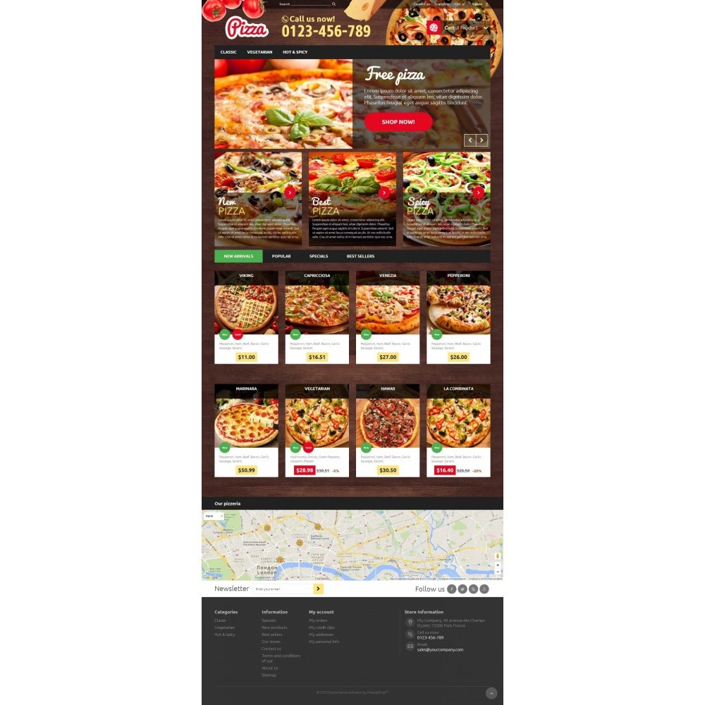 theme - Alimentos & Restaurantes - Pizza - 2