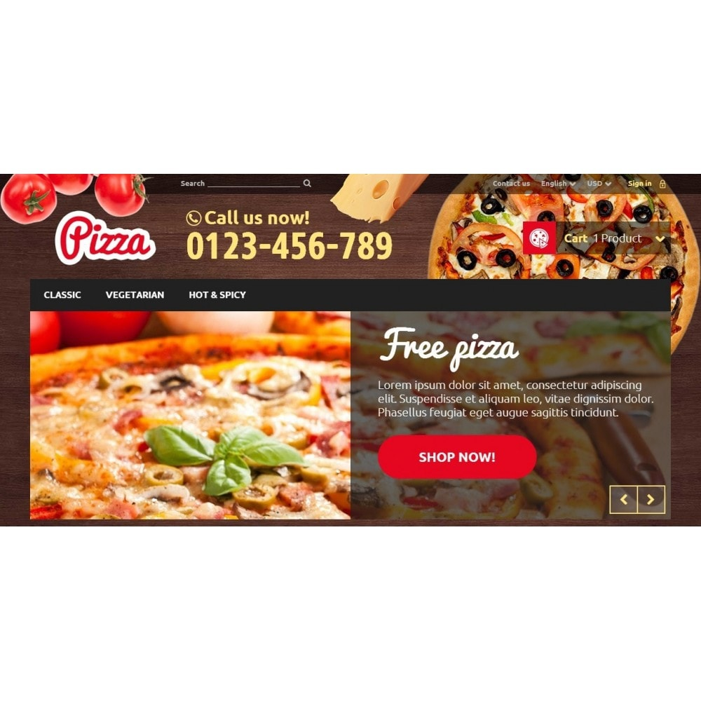 theme - Food & Restaurant - Pizza 1.6 Responsive - 3