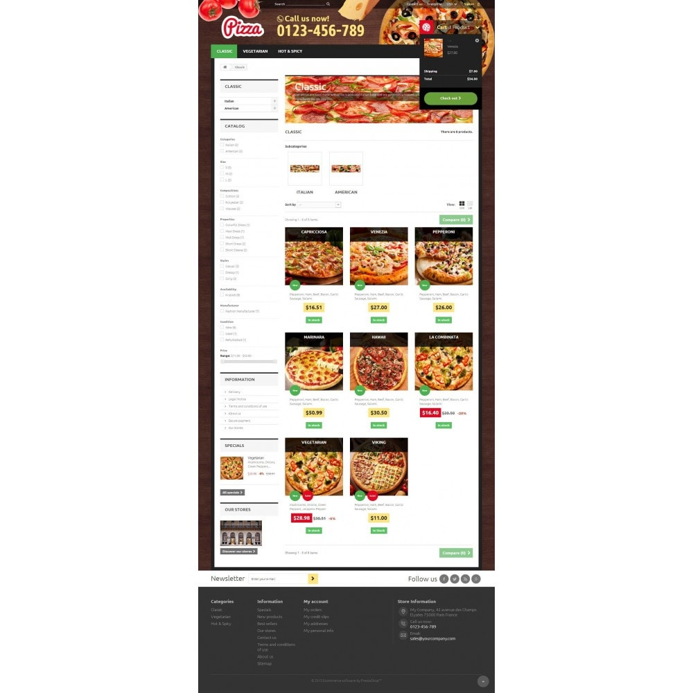 theme - Alimentation & Restauration - Pizza 1.6 Responsive - 5