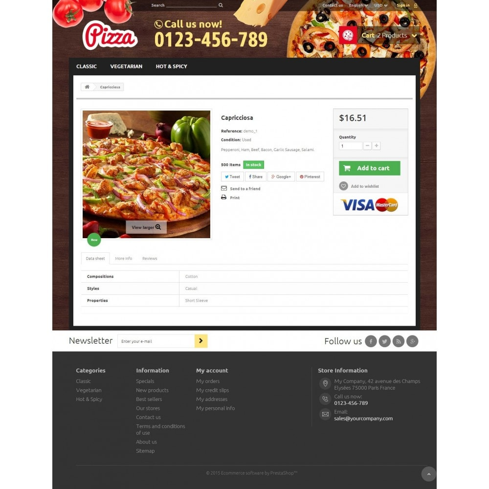 theme - Food & Restaurant - Pizza 1.6 Responsive - 7