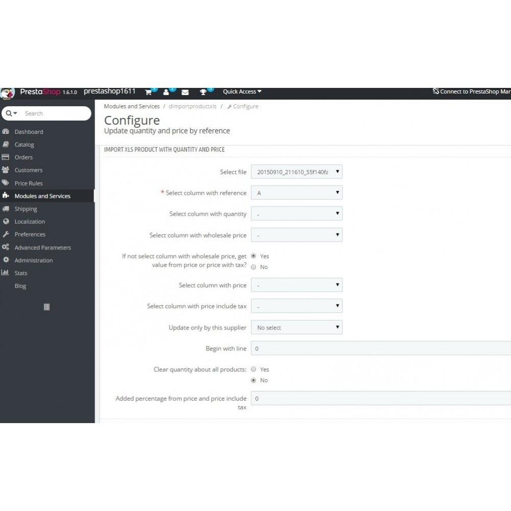 module - Быстрое & массовое редактирование - Обновление цены и количества по артикулу - 3
