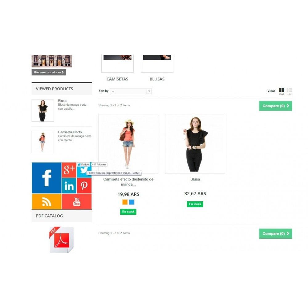module - Widgets para redes sociales - Metro Social - Follow module - 6