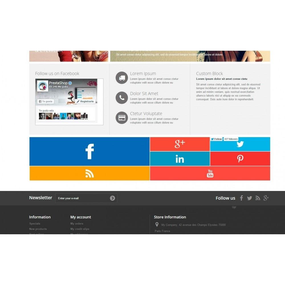 module - Widgets para redes sociales - Metro Social - Follow module - 7