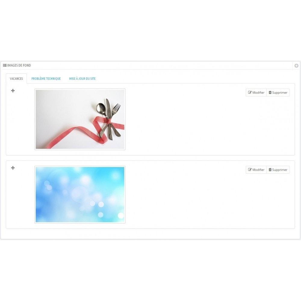 module - Personnalisation de Page - Maintenance - 6