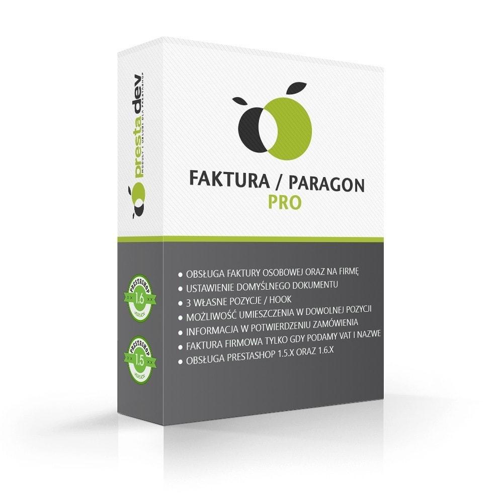 module - Księgowość & Fakturowania - Faktura / paragon Pro - 1