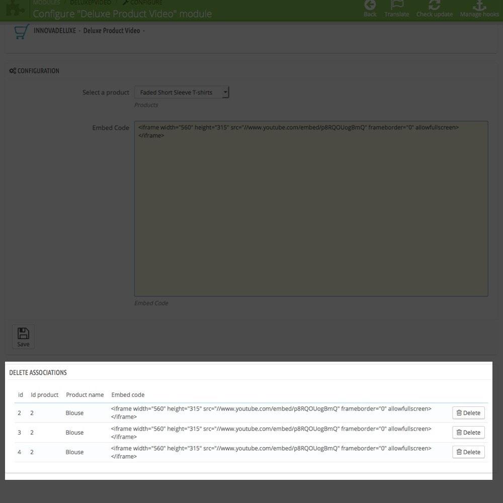 module - Vídeos y Música - Videos (Youtube - Vimeo) en Pestaña de Producto - 4