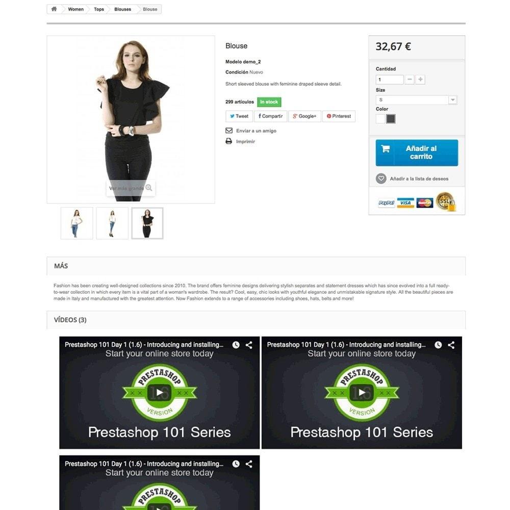 module - Videos & Musik - Videos (Youtube – Vimeo) in der Produktregisterkarte - 6