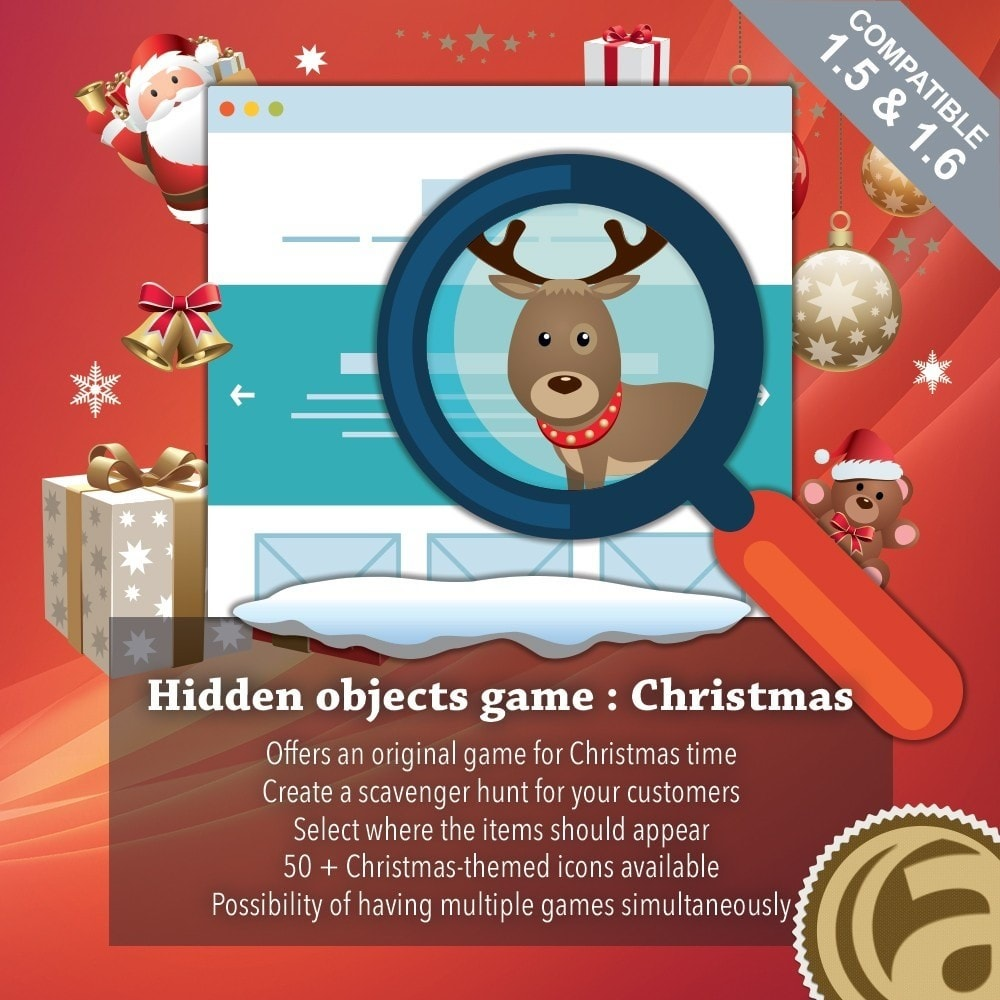 module - Игр-конкурсов - Hidden objects game : Christmas - 1