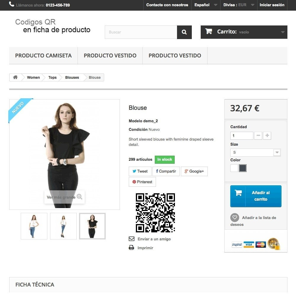 module - Mobile - QR Code on product page (BIDI) - 3