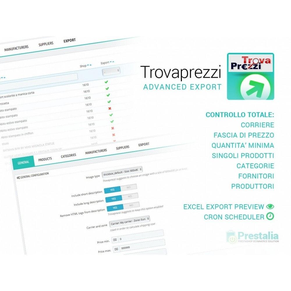 module - Data Import & Export - Esporta Prodotti Trovaprezzi con filtri avanzati - 1