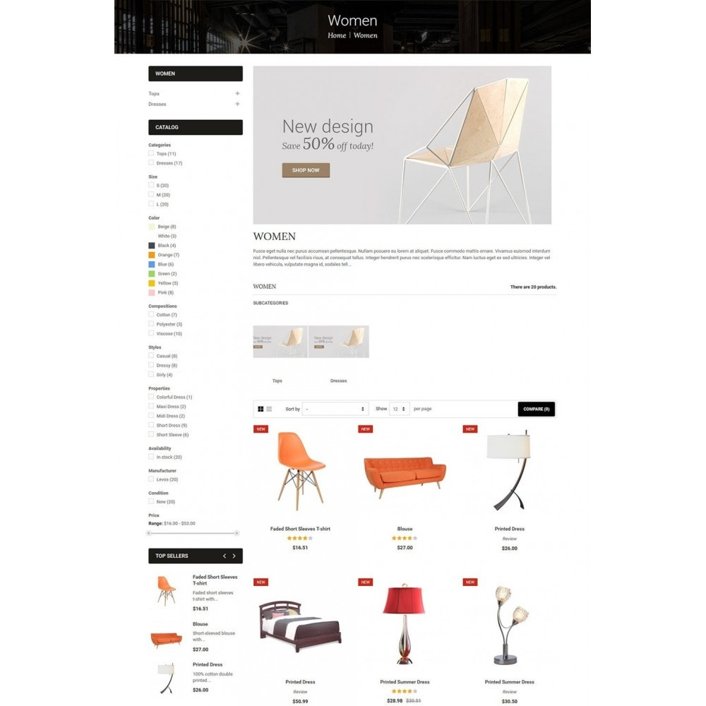 theme - Huis & Buitenleven - LifeSpace - Furniture Store Responsive PrestaShop - 4