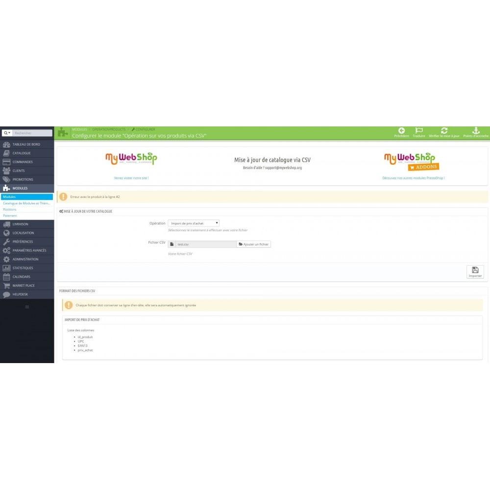 module - Import & Export de données - Opérations sur vos produits via CSV - 3