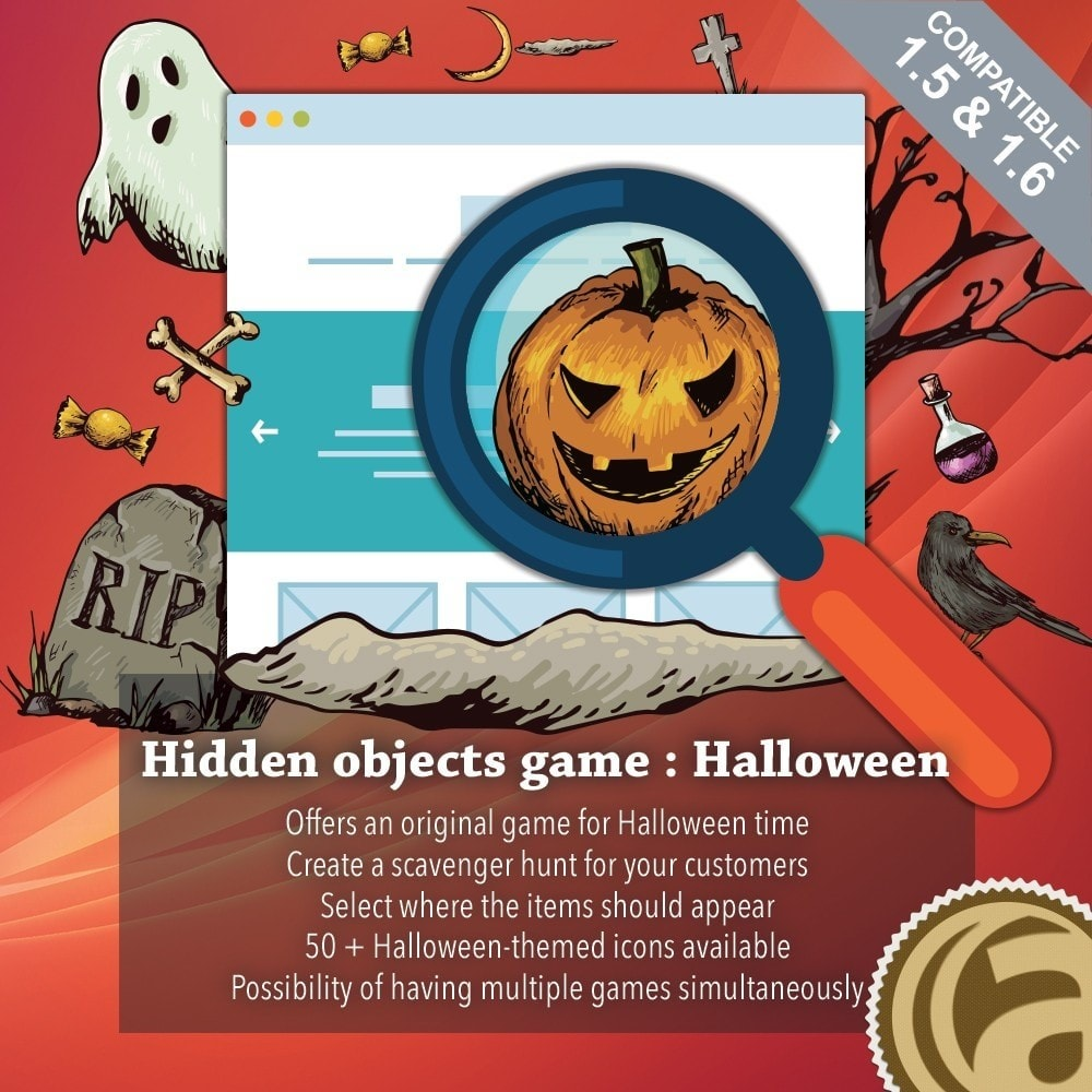 module - Jogos para os Clientes - Hidden objects game : Halloween - 1