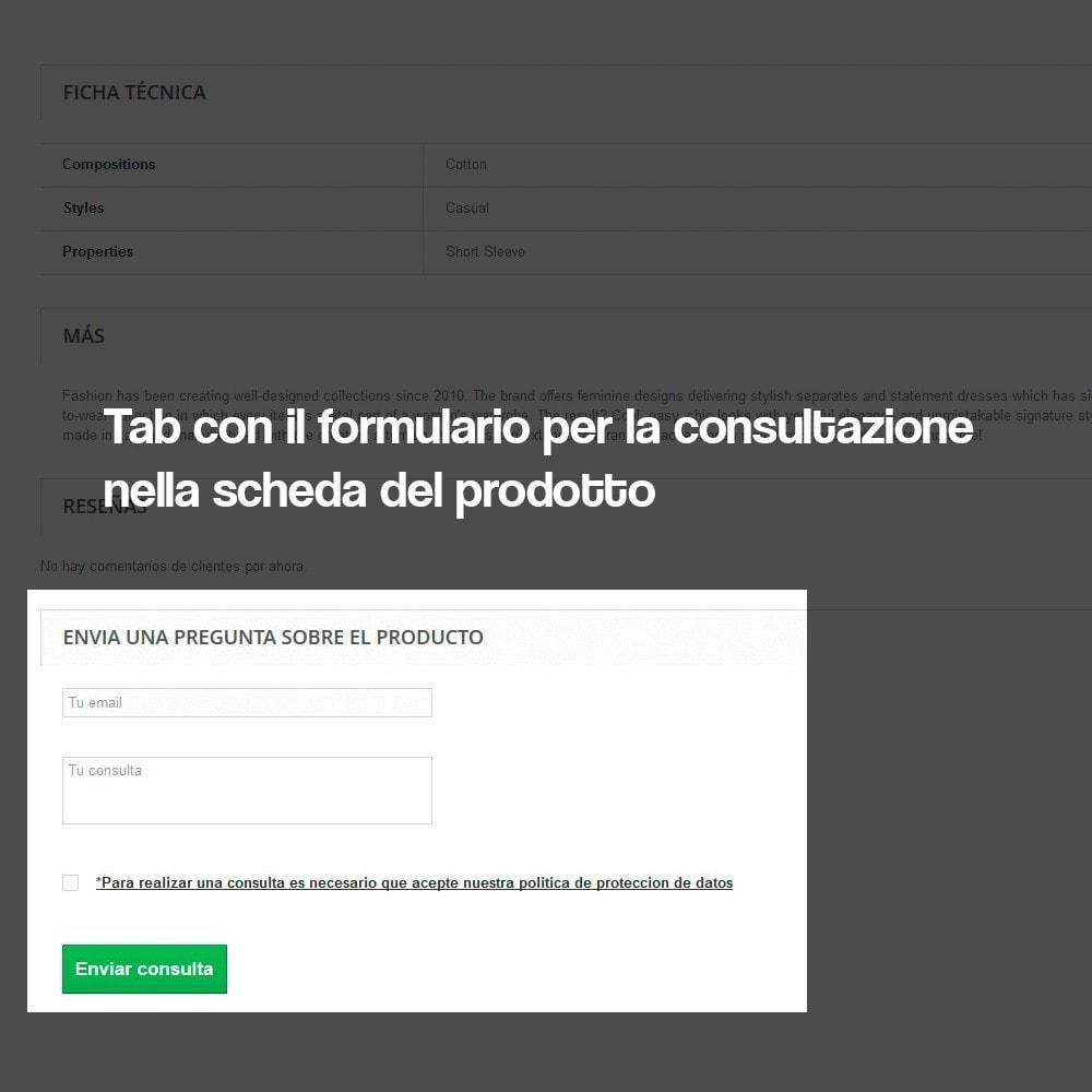 module - Legale (Legge Europea) - Richiedere informazioni dalla pagina del prodotto - 4