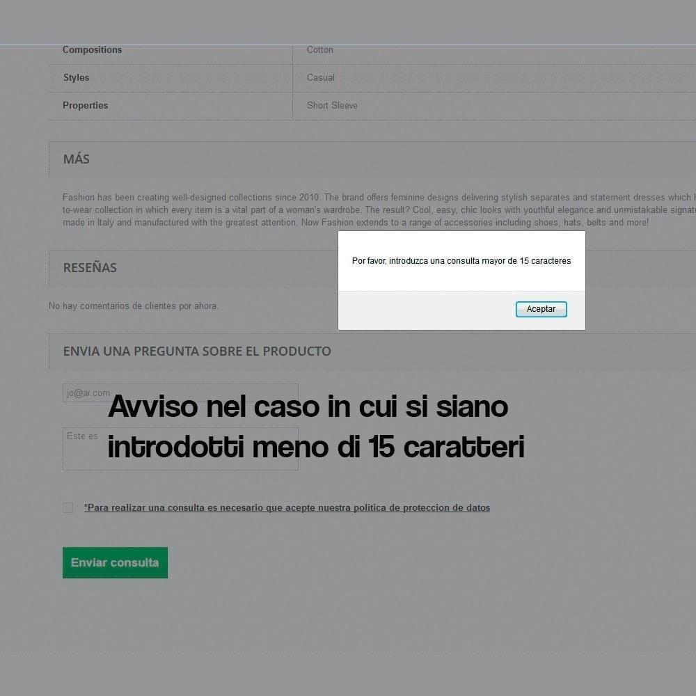 module - Legale (Legge Europea) - Richiedere informazioni dalla pagina del prodotto - 6