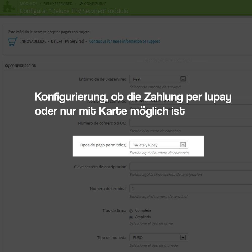 module - Zahlung per Kreditkarte oder Wallet - Bezahlung mit der virtuellen TPV Karte REDSYS SHA256 - 4