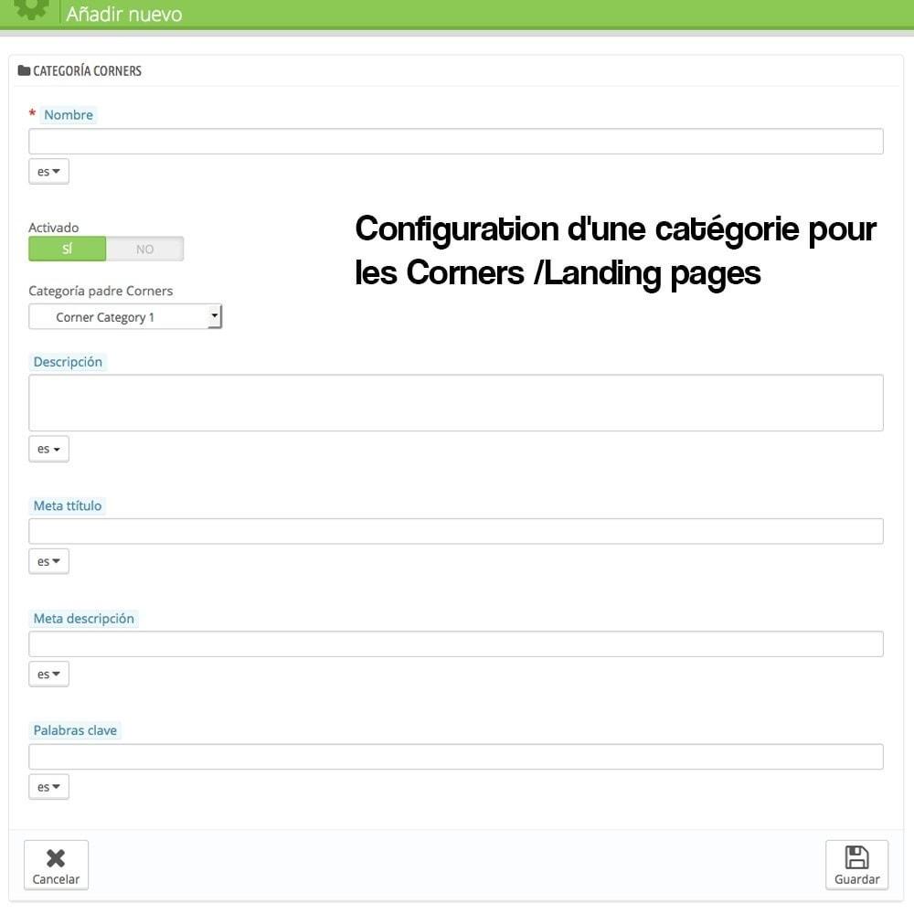 module - SEO (référencement naturel) - Créateur de Landingpages (corners) pour des marques - 3