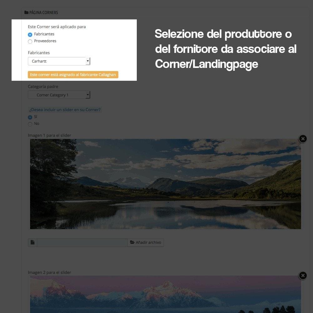 module - SEO (Indicizzazione naturale) - Creatore di landing page (corner) per marchi - 6