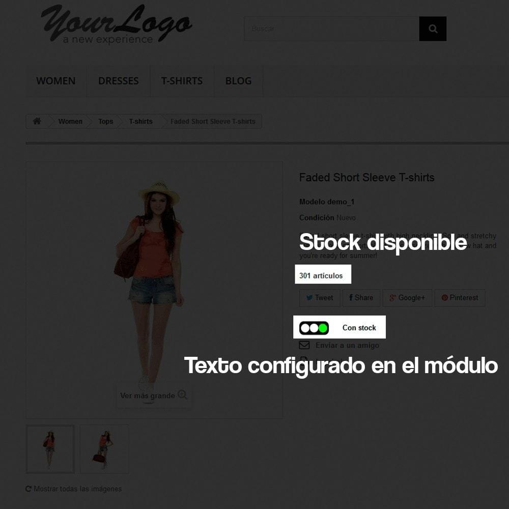 module - Informaciones adicionales y Pestañas - Indicador de stock disponible en ficha de producto - 3