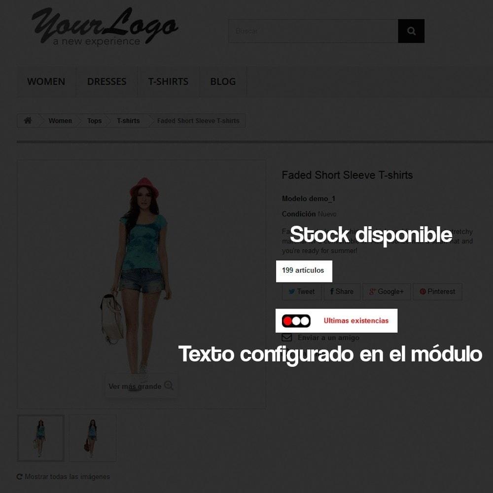 module - Informaciones adicionales y Pestañas - Indicador de stock disponible en ficha de producto - 7