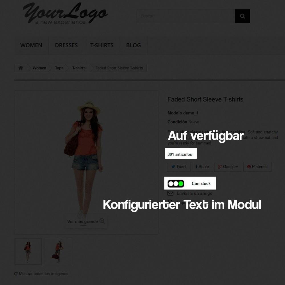module - Zusatzinformationen & Produkt-Tabs - Anzeige des Warenbestandes auf der Produktseite - 3