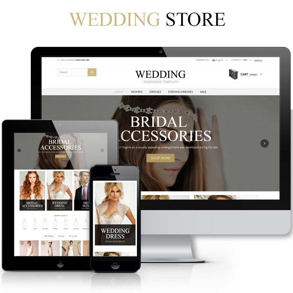 theme - Mode & Schuhe - WEDDING STORE 1.6 Responsive Template - 1