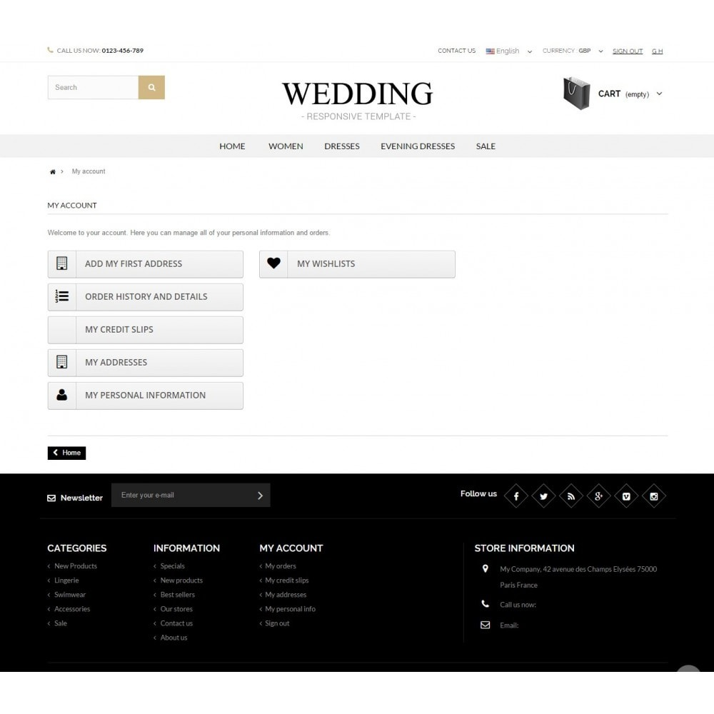 theme - Mode & Schuhe - WEDDING STORE 1.6 Responsive Template - 5