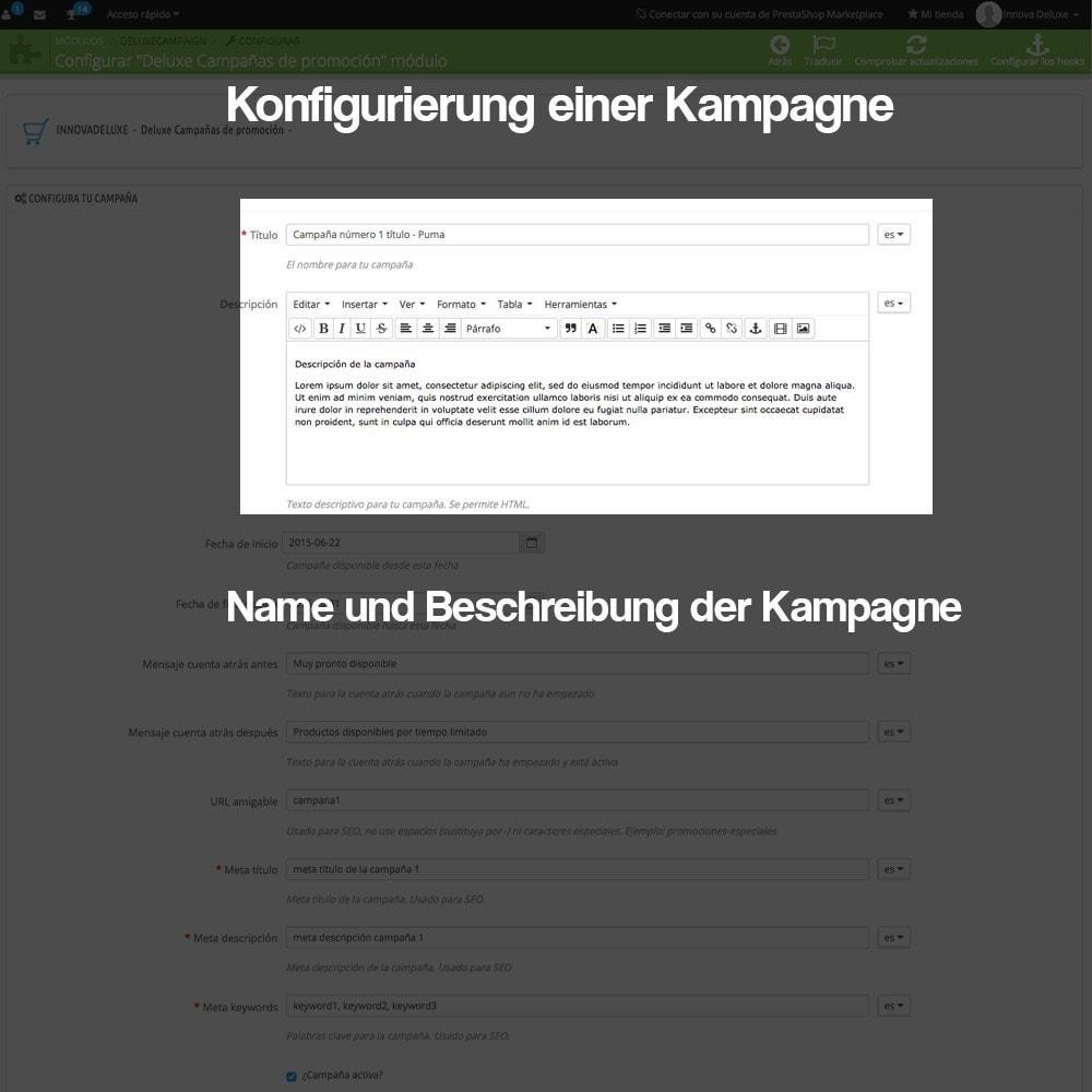 module - Promotion & Geschenke - Verwaltung von Kampagnen (Saisonale Vorschau, Looks) - 4