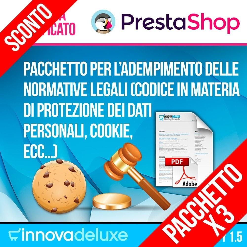pack - Legale (Legge Europea) - Pack 4 - per l'adempimento delle normative legali - 1