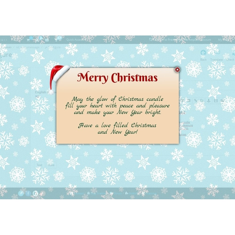 module - Pop-up - Christmas message - 1