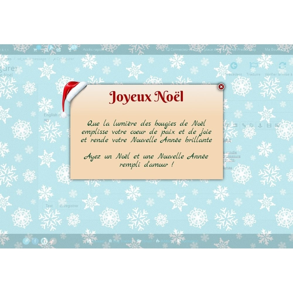 module - Pop-up - Message de Noël - 1