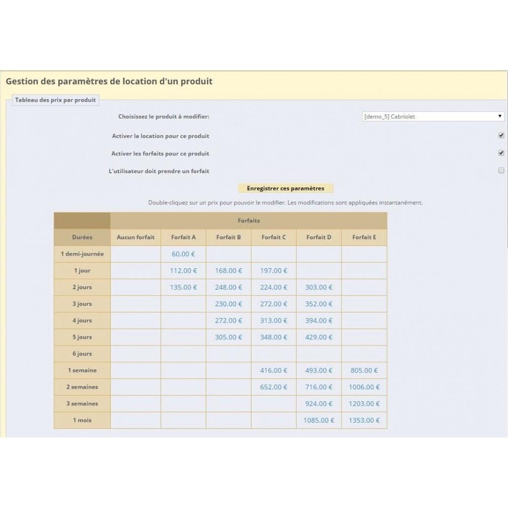 module - Location & Réservation - Location de produits ou services - 3
