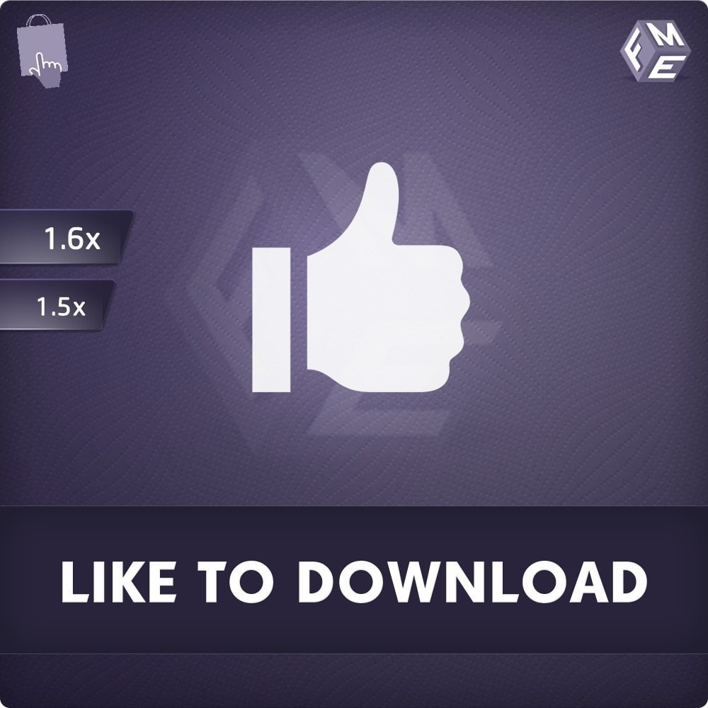 module - Produkten op Facebook & sociale netwerken - Facebook Like to Download - 1