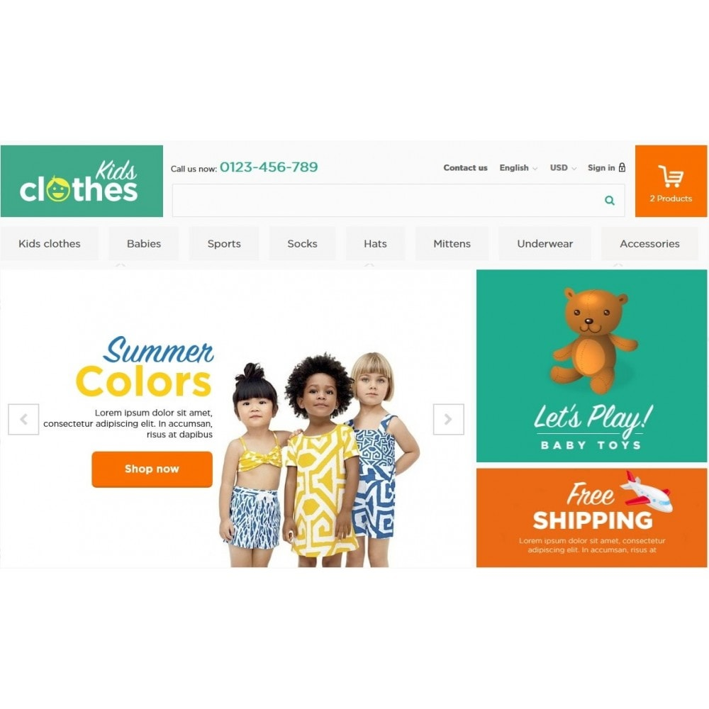 theme - Kids & Toys - Kids Clothes 1.6 Responsive - 3