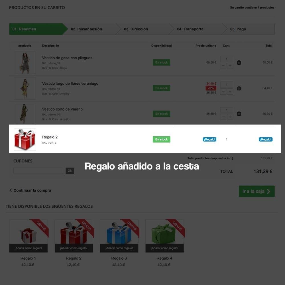 module - Promociones y Regalos - Regalos en la cesta para incrementar valor del pedido - 12