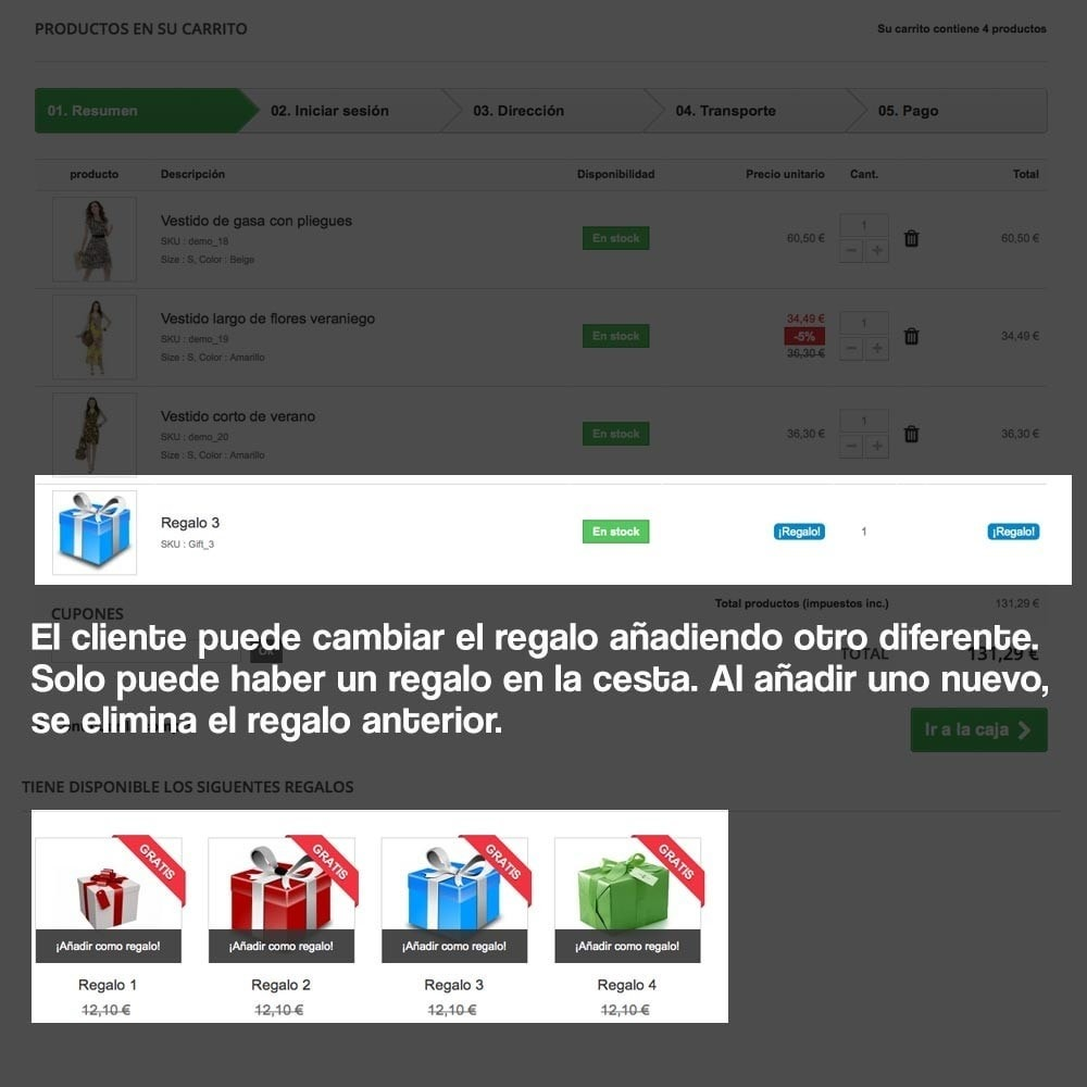 module - Promociones y Regalos - Regalos en la cesta para incrementar valor del pedido - 13